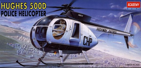 1/48 500D Police Helicopter & Police Motorcycle