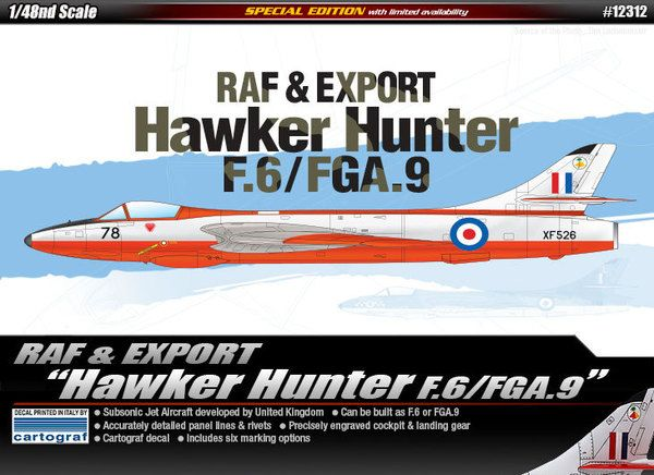 1/48 Hawker Hunter RAF