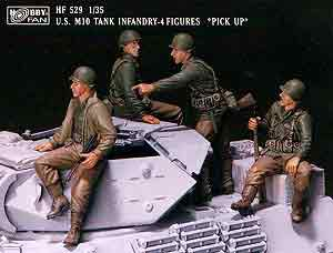 1/35 US M10 Tank Infantry Pick-up