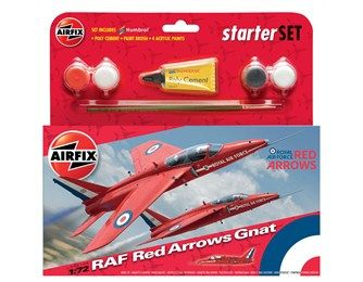 1/72 Red Arrows Gnat Statret Set