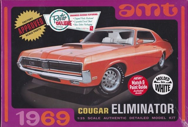1/25 1969 Mercury Cougar White