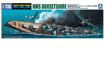 1/700 HMS Dorsetshire British Heavy Cruiser