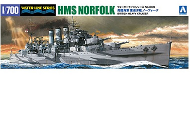 1/700 HMS Norfolk British Heavy Cruiser