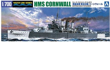 1/700 HMS Cornwall British Heavy Cruiser SP