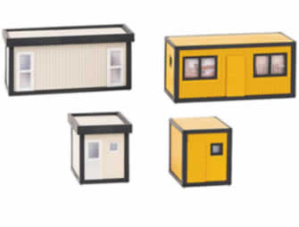 HO 4 Building Site Containers -black/yellow and grey/black