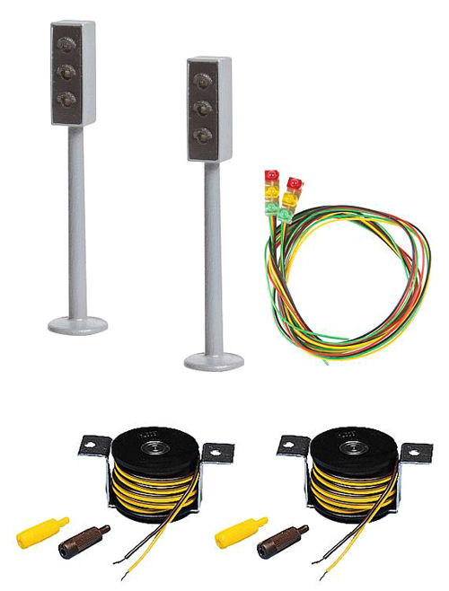 2 LED Traffic Lights w/Stop Sections