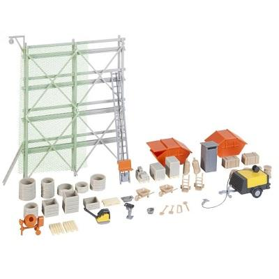 Building site equipment set