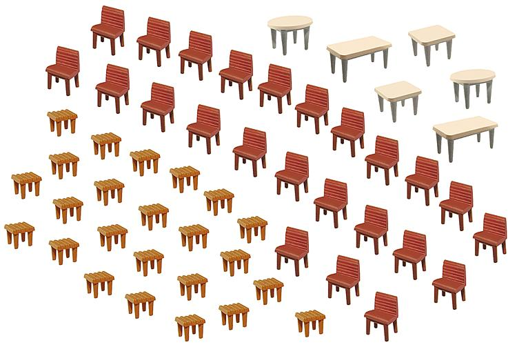HO 7 Tables/ 48 Chairs