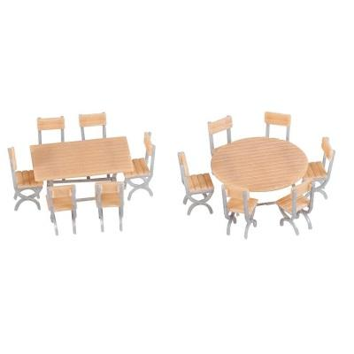 HO 2 Tables and 12 chairs