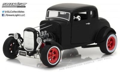 1/18 1932 Ford Custom Hot Rod Black