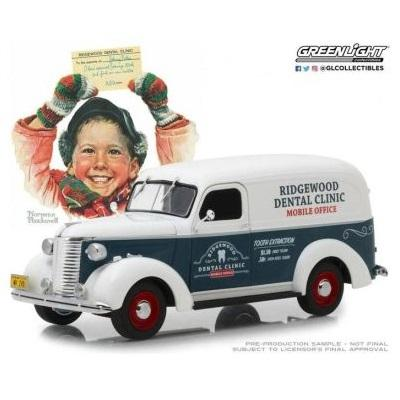 1/24 1939 Chevrolet Panel Van - Norman Rockwell White/Green
