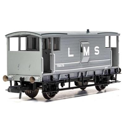 LMS, D1919 20T Brake Van, 730176 - Era 3