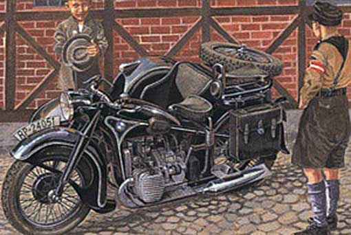 1/35 BMW R12 w/sidecar Civilian version