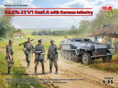 1/35 Sd.Kfz.251/1 Ausf.A with German Infantry