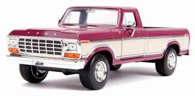 1/24 1979 Ford F-150 Pickup Truck Stock Plum Metallic & Cream