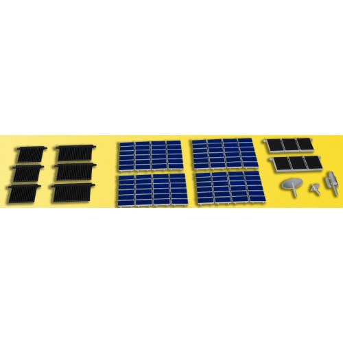 HO Deco set Solar,photovoltaic & tube un