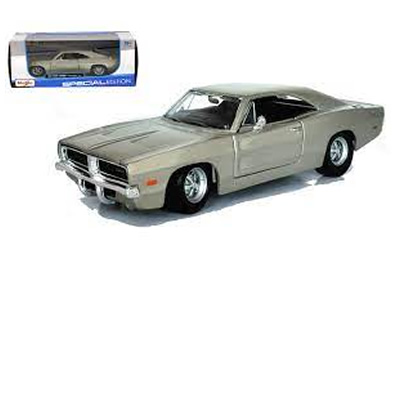 1/25 1969 Dodge Charger R/T Metallic Silver Special Edition