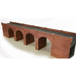 00/HO Red Brick Double Track Viaduct Kit