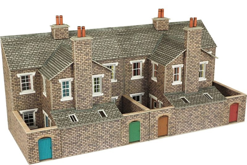 OO/HO Low Relief Stone Terraced House Ba