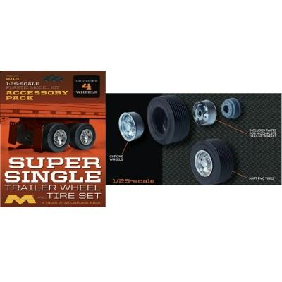1/25 Trailer Wheel/Tire set (6)