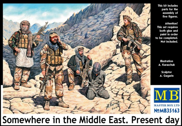 1/35 Somwhere in the Middle East, Present DaySpecial Ops Team w/Hostages (5)