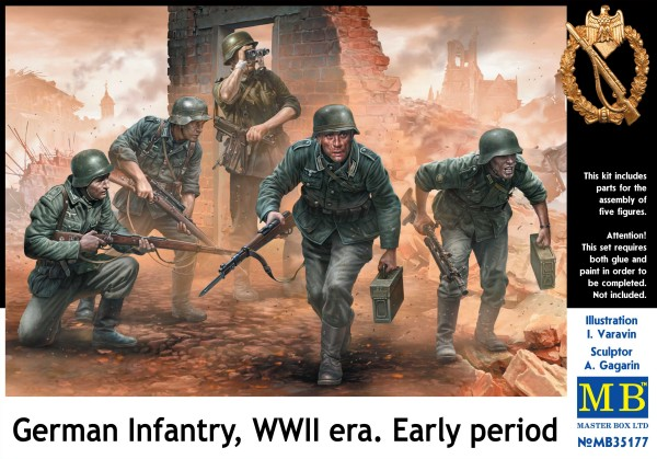 1/35 German Infantry on themove Under Fire WWII Early(5)