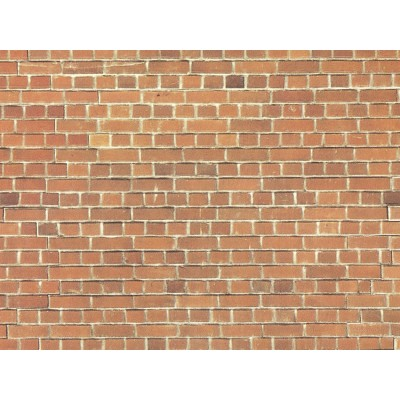 HO Carton Wall, Large - Red Brick