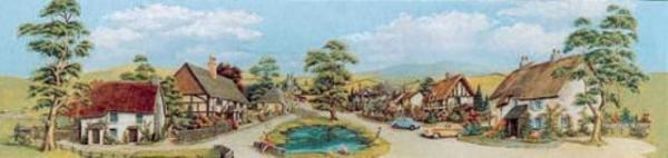 Village with Pond Large 228mm x 736mm