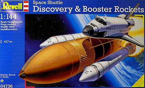 1/144 Space Shuttle Discovery + Booster Rockets