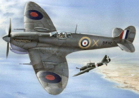 1/48 Supermarine Spitfire Mk Vc Malta Defender Fighter
