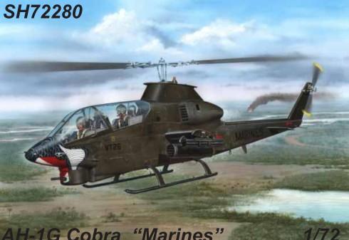1/72 AH1G Cobra US Marines Helicopter