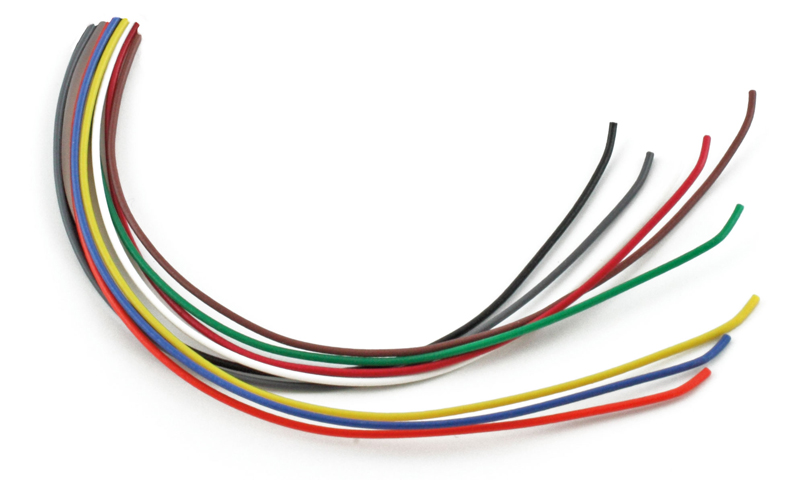 10' 28AWG Green w/yellow stripe wire