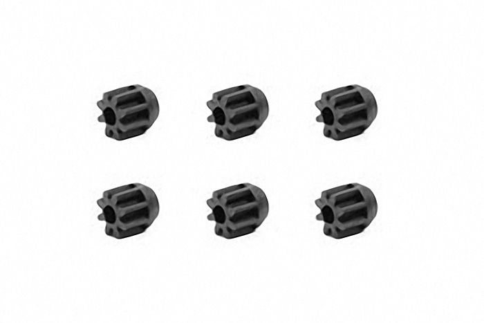 Mini 4WD 8T Carbon Reinforced Pinion (6 Pcs)