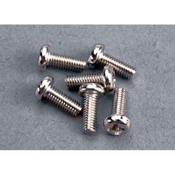 3x8mm Roundhead machine screws(6)