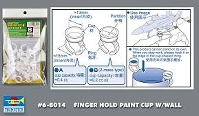 Ring Cup With Wall Paint Holder 0.2cc x 2
