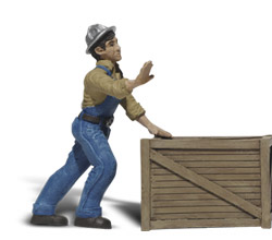 G Dock worker w/crate