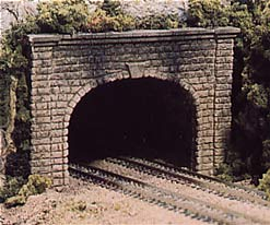 Cut Stone Dble Tunnel Portal