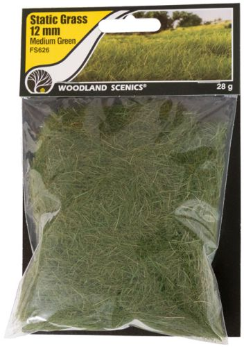 12mm Medium Green Static Grass