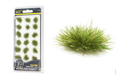 Medium Green Grass Tufts