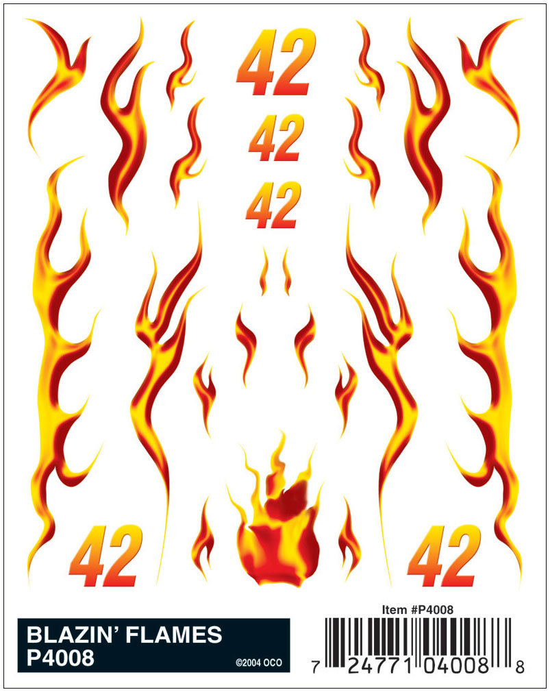 Blazin'Flames High Gloss Dry Transfer de
