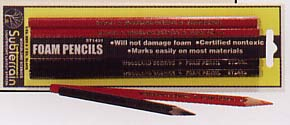 Foam Pencils 2 Red/2 Black