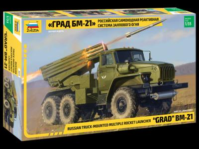 1/35 Grad BM-21 Russian Truck Mounted Multiple Rocket Launcher
